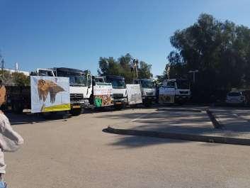 תוספת משאיות לפרויקט סניטציה באזור הנגב, צילום: שלומית שביט.