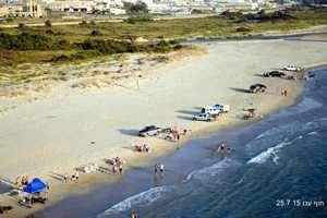 מבצע אכיפה בחוף עכו 25 ביולי 2015