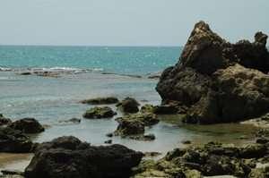 מצוקי כורכר בשמורת טבע חוף גדור