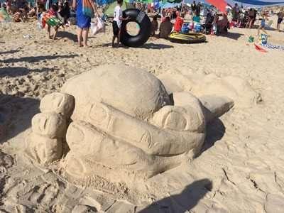 תחרות פיסול בחול - בגן לאומי חוף פלמחים