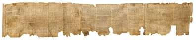 מגילת ישעיהו, מתוארכת למאה ה-1 לפני הספירה.  צילום: ארדון בר חמא - התמונה באדיבות מוזיאון ישראל בירושלים .