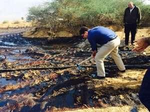 אופיר קוניס - השר להגנת הסביבה,  מפנה נפט משמורת עברונה- צילם דורון ניסים