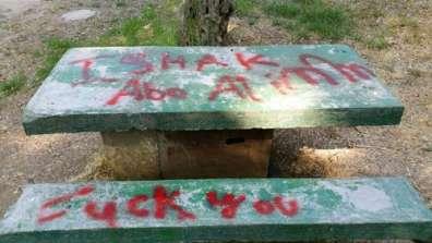 כתובות גרפיטי בגן לאומי עין חמד - צילם ואב גרינברג