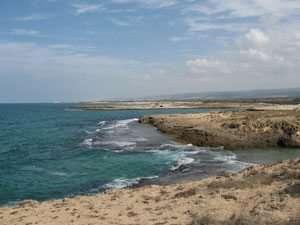 החוף המפורץ של שמורת חוף הבונים