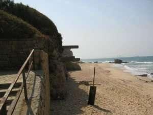 מצוק הכורכר וסלעי משאר בחוף אשקלון