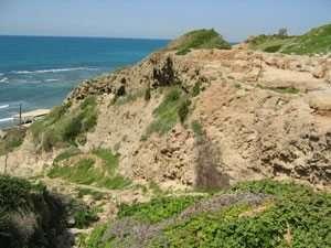 מצוק הכורכר וסלעי משאר בים באפולוניה