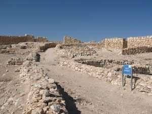 רחוב ובתי מגורים בעיר הכנענית