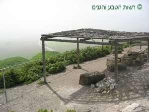 סככת התצפית לכיוון מזרח עמק יזרעאל