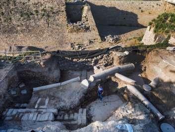 הפסיפס שנחשף בקיסריה ועבודות השימור של משמרי רשות העתיקות