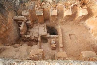 תגלית גת עתיקה בגן לאומי ציפורי1