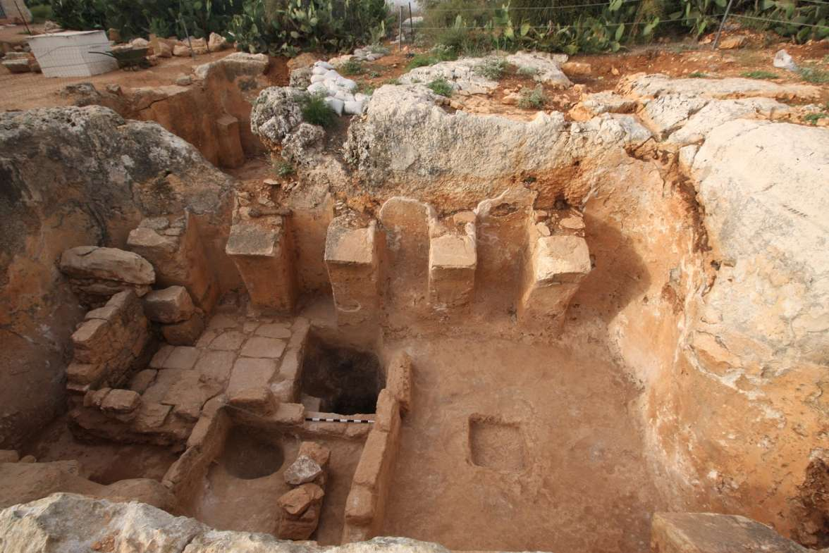 Discovery of an ancient winepress in Tzippori National Park