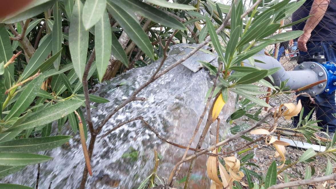הזרמת מים לנחלים בצפון