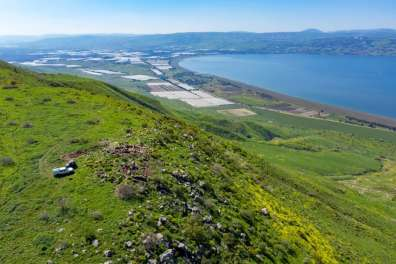 The fort, west of Mevo Hama with a commanding view of the road east of the Sea of Galilee..jpg