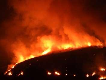 שריפה בסוסיתא - צילום עמי דורפמן רשות הטבע והגנים