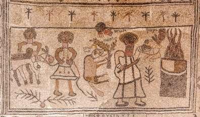 פסיפס בית אלפא - עקדת יצחק