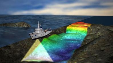 הדמיה של איסוף נתונים בתימטרי (מקור: NOAA)