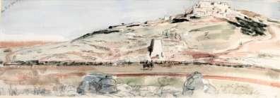 מג'דל יאבא 1918 - ציור של ג'יימס מקבי -באדיבות ערן תירוש