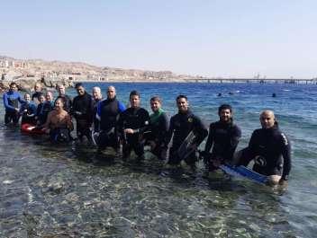 אנשי היחידה הימית של רשות הטבע והגנים