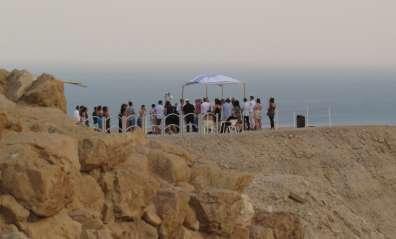 חופה חתונה בגן לאומי קומראן - צילם ערן קרוזל