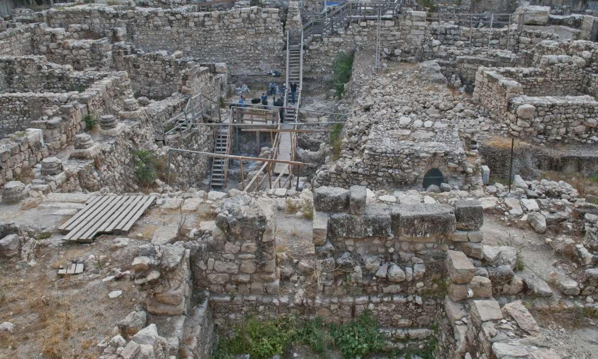 אתר החפירות בחניון גבעתי. צילום: שי הלוי, באדיבות רשות העתיקות.