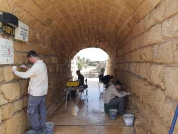 עבודות שימור בגן הלאומי קיסריה. צילום יהונתן אורלין רטג2