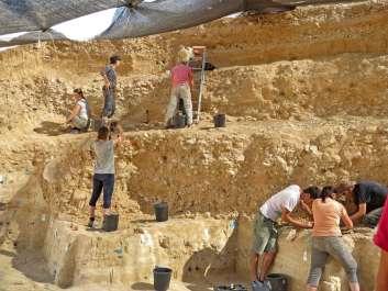 איור 1. החפירות באתר בוקר תחתית. צילום- אליזבטה בוארטו, מכון ויצמן למדע