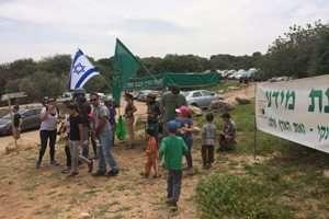 הפגנה - עוצרים את הקמת מתקן ניסוי להפקת נפט מפצלי שמן בשפלה