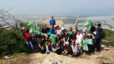 פעילות נקיון שלח בשביל ישראל