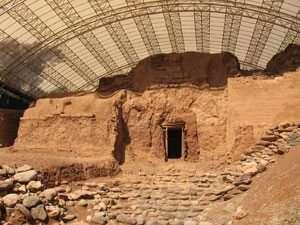 השער הכנעני בשמורת הטבע תל דן - צילם זאב מרגלית, אדריכל רשות הטבע והגנים