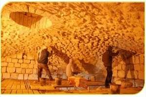 עבודות הצלה ושימור במבנה הצלבני שבגן לאומי נבי סמואל