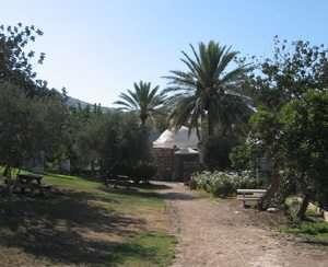 מבנה בית המרחץ המשוחזר בגן לאומי חמת טבריה