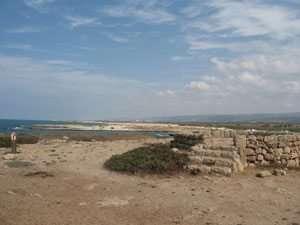 נקודת תצפית ממנה רואים את קו החוף והרי הכרמל