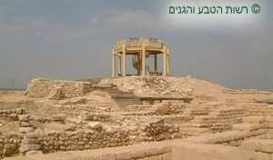 גן לאומי תל באר שבע - מראה כללי משער העיר למגדל התצפית