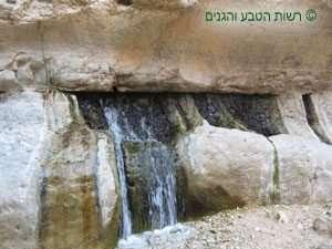 זרימת מים בין שכבות הסלע