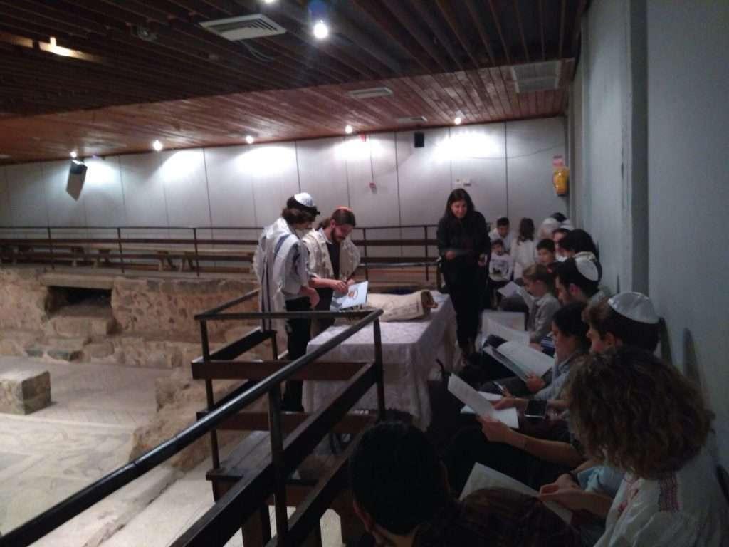 בר מצווה בבית הכנסת בית אלפא