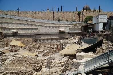 1. מראה כללי של חפירת חניון גבעתי בעיר דוד. צילום-רשות העתיקות